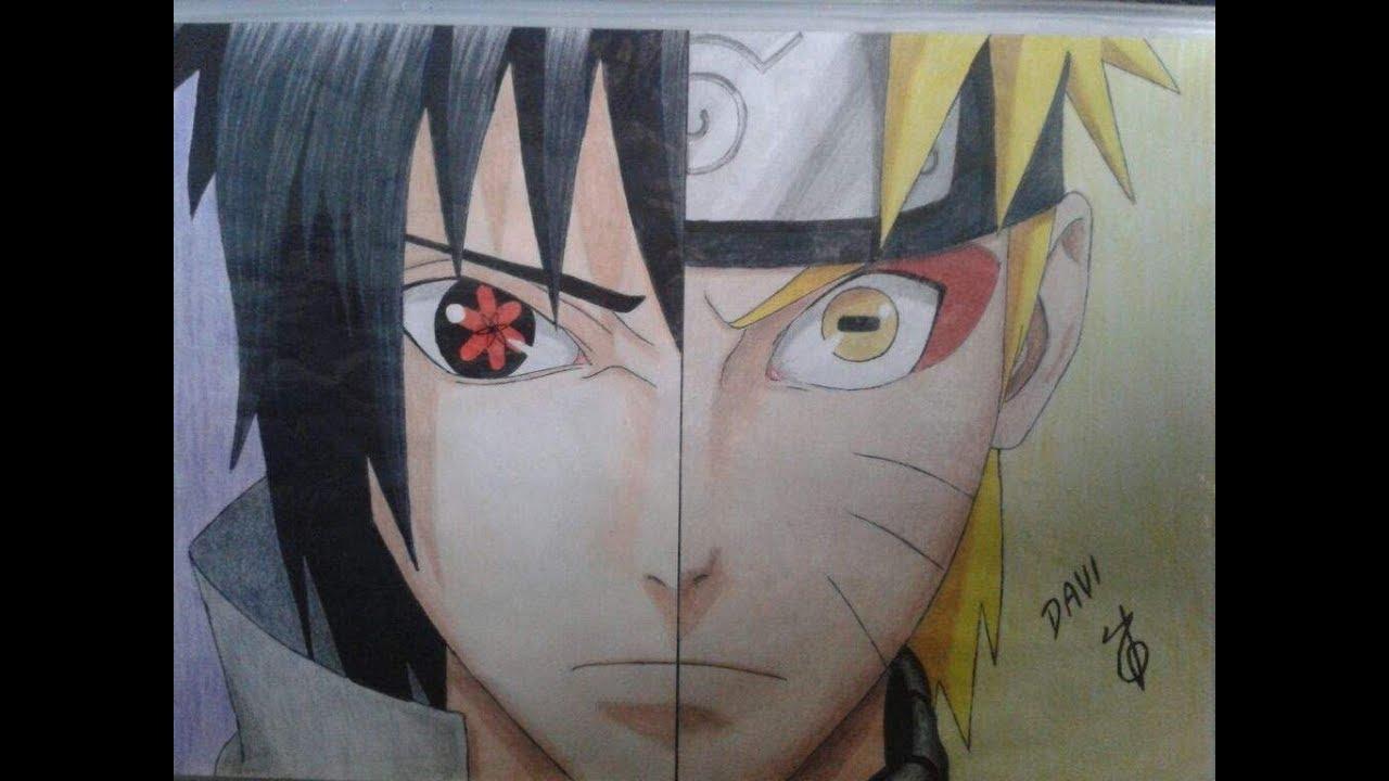 como desenhar sasuke vs naruto passo a passo youtube