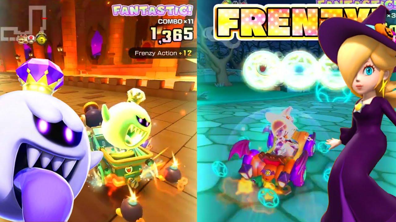 Mario Kart Tour Halloween Trailer Harmonie Halloween Roi Boo Luigi Mansion Fr