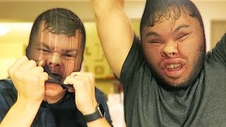 PANTY HOSE TUG OF WAR!! with Bryan Lanning thumbnail