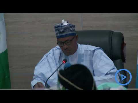 Nigeria's Buhari delivers acceptance speech after re-election
