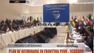 Plan de desminado en frontera Perú-Ecuador