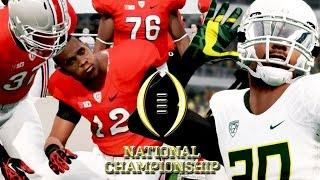 NCAA Football 14 College Playoffs Championship - #2 Oregon vs #4 Ohio St - Last Play Decides Winner!