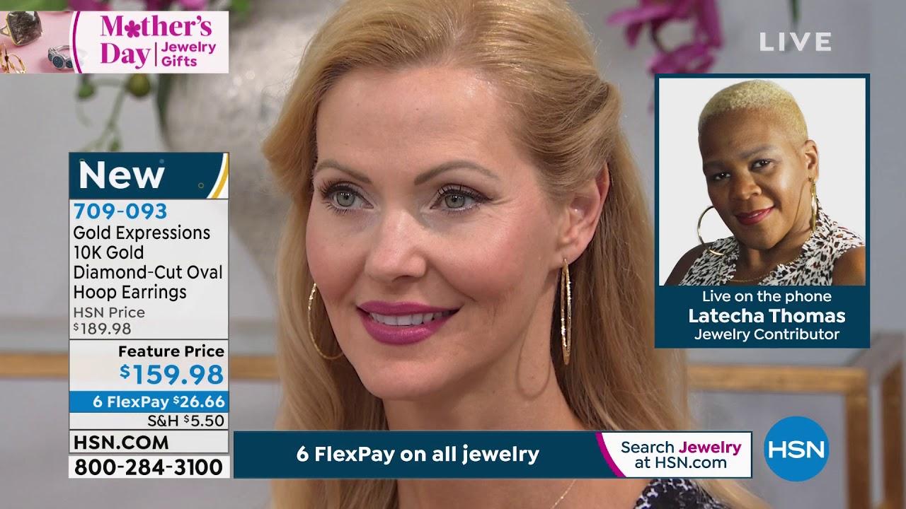 Gold Expressions 10k Gold Diamondcut Oval Hoop Earrings Youtube