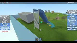 playing roblox splitting point