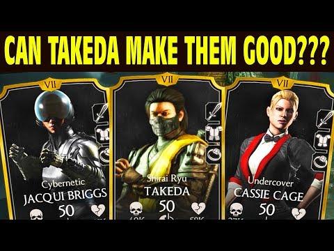 MKX Mobile 1.14. Shirai Ryu Takeda and Console Girls Team. CAN TAKEDA SAVE THEM???