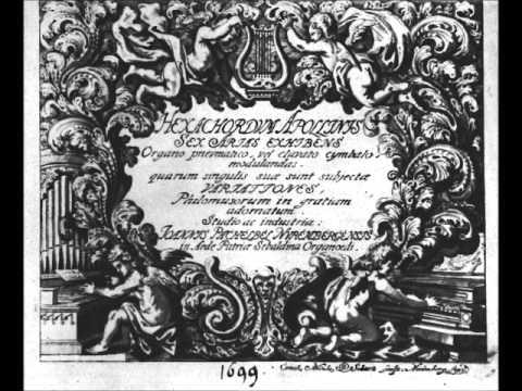 HEXACORDUM APOLLNIS - J.PACHELBEL ( Harpsichord )