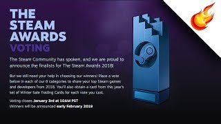 My Steam Awards Choices for 2018
