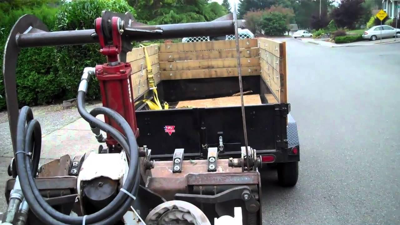 Bobcat Mt52 Homemade Grapple Bucket Part 1 Youtube