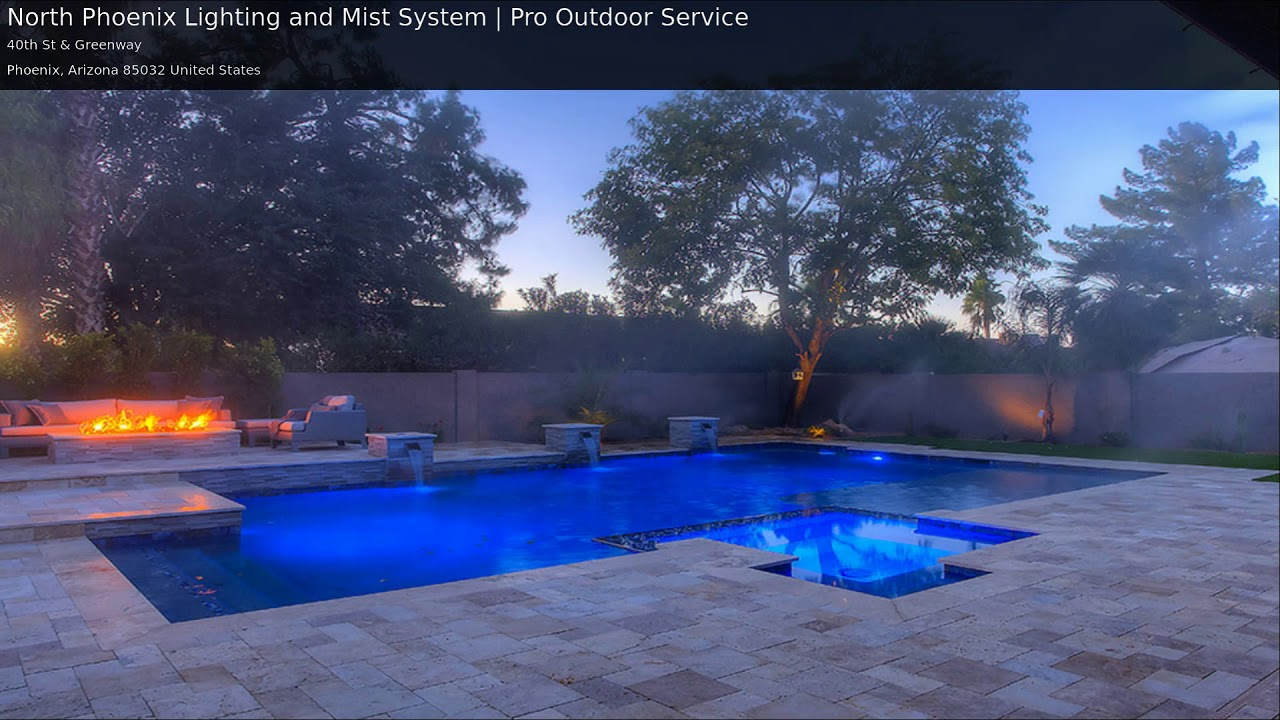 Phoenix Misting System Landscape Lighting Installation Pro Outdoor Service