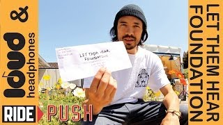 Loud Mails First Donation Check to Let Them Hear - PUSH