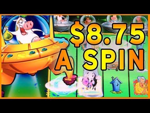 🐄  Max Bet MOOLAH ➡ Return of the Planet Moolah $8.75/SPIN ✦ Slot Machines w Brian Christopher