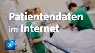 Datensicherheit: Millionen Patientendaten ungeschützt im Netz