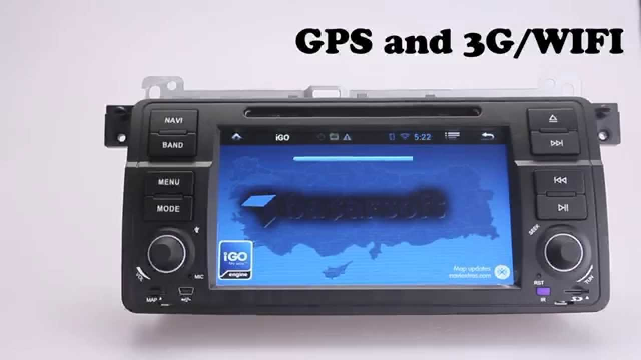 Best aftermarket pure android 4 2 car stereo for bmw e46 m3 318 320 325 330 335 single din youtube