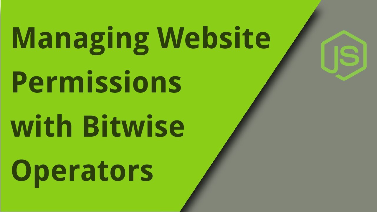 Managing User Permissions with Bitwise Operators
