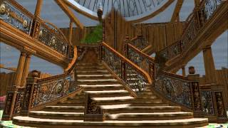 R.M.S. Britannic First Class Entrance in Virtual Sailor 7 (Grand Staircase)