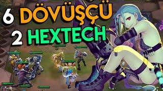 TS : JINX OP! | 6 Dövüşçü + 2 Hextech Dizilimi | Taktik Savaşları