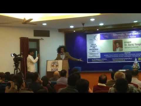 Dr Suraj Yengde Harvard University Diversity Tour India Part #1