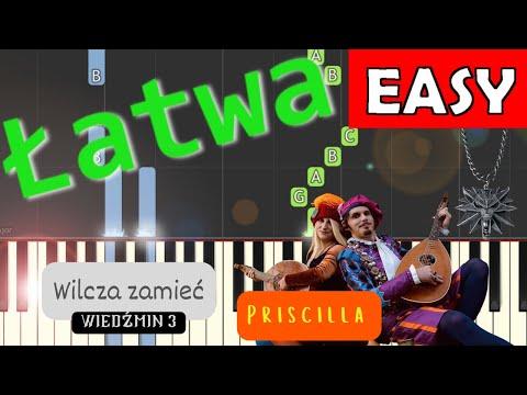 🎹 Pieśń Priscilli (Wilcza Zamieć, WIedźmin 3, witcher) - Piano Tutorial (łatwa wersja) (EASY) 🎹