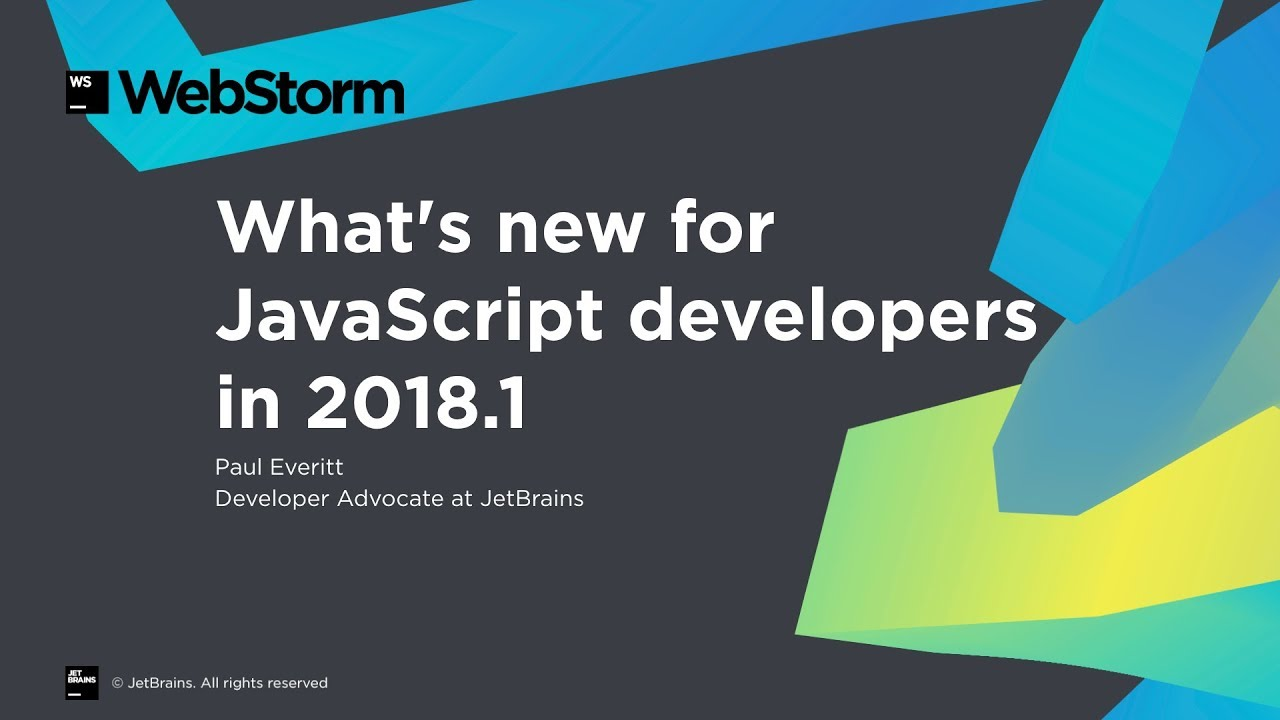 New for JavaScript developers in WebStorm and IntelliJ IDEA 2018 1
