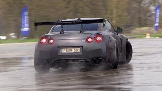 Liberty Walk Nissan GTR R35 w/ Armytrix Exhaust - Trying to DRIFT!