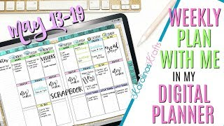Digital Plan with me May 13 to 19: How I'm Setting Up My Weekly Plan With Me In My Digital Planner