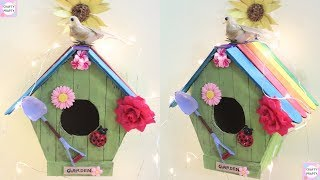 DIY Home Decoration with icecream sticks | Birdhouse Wall Hanging | Recycling Crafts