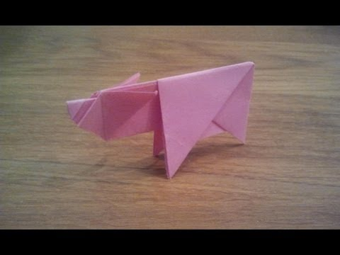 How To Make an Origami Pig / Piggy - YouTube - photo#8