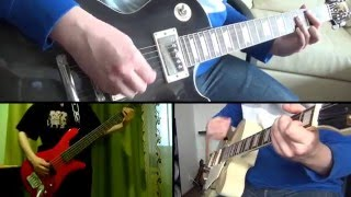 The Cranberries - Zombie (full guitar cover / online collaboration) HD
