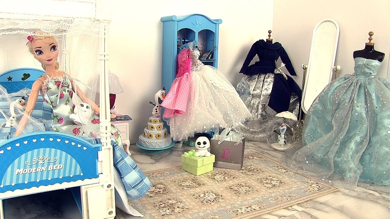Frozen Bathroom Barbie Morning Routine Frozen Elsa Princess Bedroom Kitchen Bathroom Dresses