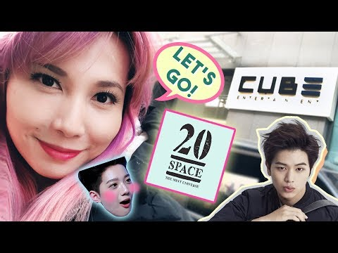 GOING TO CUBE ENTERTAINMENT BUILDING AND 20 SPACE CAFE