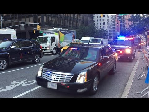 United States Secret Service & NYPD Escorting 2 Motorcades During The UnitedNations General Assembly