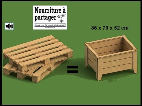 tuto fabriquer un bac jardiner en bois de palette incroyables comestibles youtube. Black Bedroom Furniture Sets. Home Design Ideas