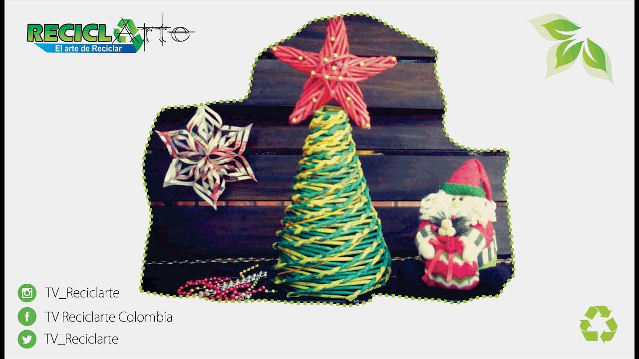 Diy arbol de navidad en papel periodico youtube - Arbol tipico de navidad ...