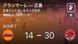 【日本ハンドボールリーグ女子5週目】広島がアランマーレに大きく点差をつけて勝利