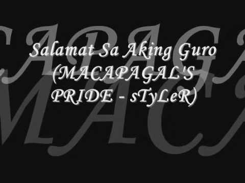 Salamat Sa Aking Guro - sTyLeR of Mac Production wmv