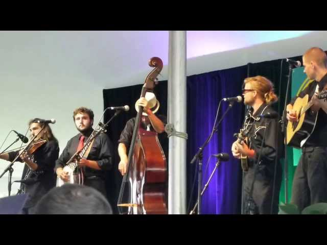 "Sons of Bluegrass play ""Survivor of the Fiddlest""  at Sugar Grove July 2013"