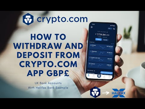 How To Withdraw Money From Crypto.com To Your Bank Account With Halifax Example