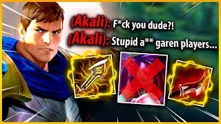 Akali thought she won the game... Until I pulled out my Lethality Garen 😏