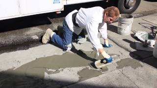 Concrete fixes, Polybond a driveway mixed with sand & cement plaster,  use products in description.
