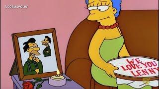 MARGE ENGAÑÓ a HOMERO SIMPSON , LENNY es EL PADRE de MAGGIE?