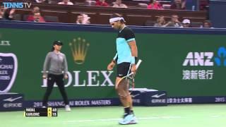 Nadal Hits Triple Shanghai Hot Shot