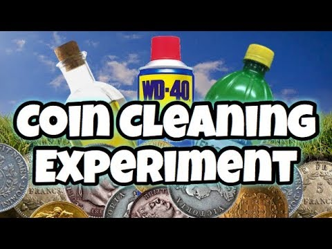 Metal Detecting UK Coin Cleaning Experiment (re-upload)