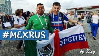 MEXICO vs RUSIA 2017 l Los mexicanos festejando con los rusos en Rusia, Kazan
