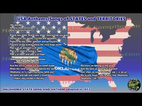 Oklahoma State Song and Anthem OKLAHOMA with music, vocal and lyrics