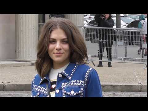 Morgane Polanski @ Paris 6 march 2018 Fashion Week  Miu Miu PFW Mars