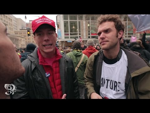"Thumbnail: Trump Supporter talks to Protesters ""TRUMP'S THE PRESIDENT... AND YOU ALL LOST"""