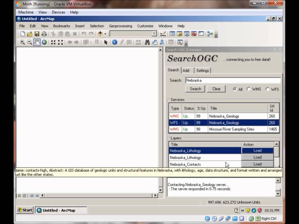 Using SearchOGC com ArcGIS Plugin