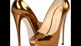Золотые туфли / босоножки - 2019 / Gold shoes / Goldene Schuhe / Sandalen