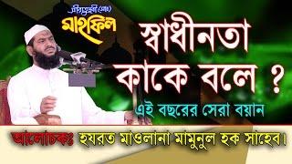 Bangla Waz Mamunul Haque Saheb 2017 স্বাধীনতা কাকে বলে ?