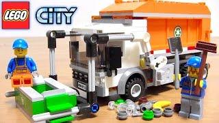レゴ レゴシティ はたらくくるま ゴミ収集車 組立 コマ撮り ストップモーション アニメ / LEGO CITY 60118 Garbage truck stop motion kids toy